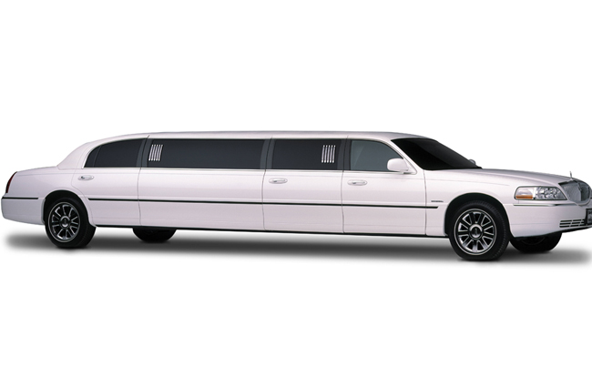 White Lincoln Stretch Limousine